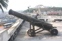 Photogrammetric image of a cannon on West Bastion, Ghana