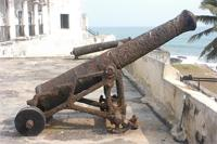 Photogrammetric image of a cannon on West Bastion of the Elmina Castle, Ghana