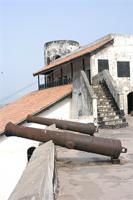 Photogrammetric image of a cannon on the West Bastion of the Elmina Castle, Ghana