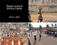 Video showing people around Elmina Castle