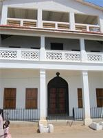 Photograph of a private house on the Lamu sea front, Kenya