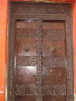A Swahili style carved door in Lamu