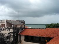 Photograph of the roof, Lamu Fort, Kenya