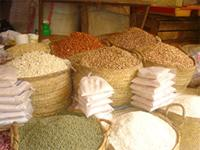 Photograph of Beans and Rice on a Market in Lamu, Kenya