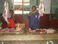 Photograph of a Lamu shop scene, Kenya