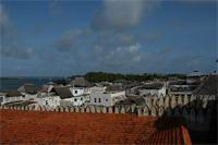 Photograph of Lamu over the fort rooftops, Kenya
