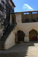 Photograph of the stairs up to the first level of the Lamu Fort, Kenya