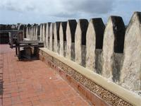 Photograph of the top wall of the Fort, Lamu Town, Kenya