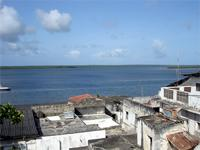 Photograph of the view of the Lagoon, Lamu Town, Kenya