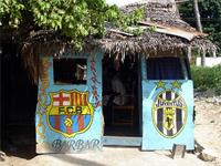 Photograph of a barber shop, Lamu Town, Kenya