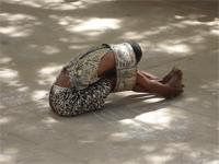 Photograph of a performer in Lamu, Kenya