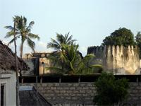 Photograph of a top section of the Lamu Fort, Kenya