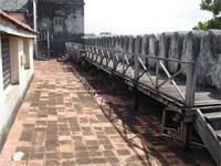 Photograph of the walkway on the roof from the Fort, Lamu, Kenya