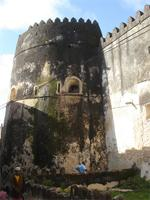 Photograph of the tower from the Lamu Fort, Kenya