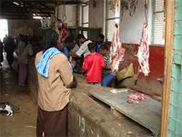 Photograph of a butcher close to the Fort, Lamu, Kenya