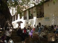 Photograph of people around the Fort, Lamu, Kenya