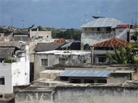 Photograph over the roofs from Lamu, Kenya