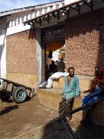 Photograph of the entrance to the Lamu Market, Kenya