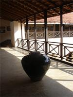 Photograph of a vase on the first floor in the Lamu Fort, Kenya