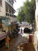 Photograph of the shops along-side Lamu Fort, Kenya