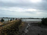 Photograph of jetty of Manda Island with a view of Lamu, Kenya