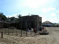 Photograph of buildings in Lamu, Kenya