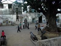 Photograph of the place in front of the main entrance, Lamu Fort, Kenya