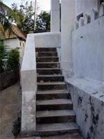 Photograph of the stairs to the main entrance, Shela Town, Kenya
