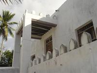 Photograph of the main entrance to the Shela Mosque, Kenya