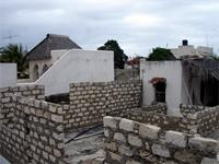 Photograph of the roof under construction in Lamu, Kenya