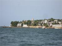 Photograph of the view from the sea, Shela, Kenya