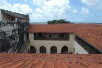 View from the roof into the courtyard