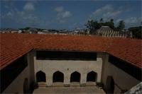 Roof and courtyard from the Lamu Fort