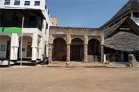 Stereoscopic Photograph of the Tourist Information Center building in Lamu, Kanya