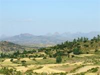 Image of the landscape around Axum, Ethiopia