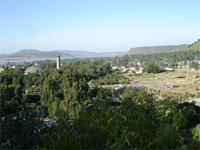 Image of the New Cathedral and a part of the Stelea Field, Axum, Ethiopia