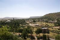 Image of the new cathedral of Maryam Tsion and the Stele Field, Axum, Ethiopia