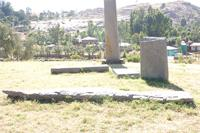 Photogrammetric image of the Axum Stelae field, Axum, Ethiopia