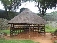 Image of a hut inside the Great Enclosure, Zimbabwe