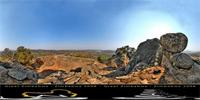 Panoramic image of the Hill Complex, Great Zimbabwe, Zimbabwe
