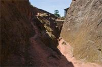 Image of the trenches, Lalibela, Ethiopia