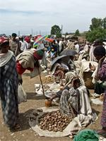 Image of the market in Lalibela, Ethiopia