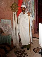 Image of a priest in Lalibela, Ethiopia