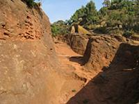 Image of trenches in Lalibela, Ethiopia