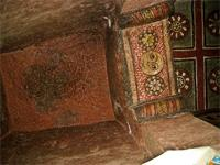 Image of paintings inside Biet Mariam, Lalibela, Ethiopia