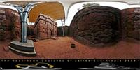 Panoramic image of Biet Emmanuel in Lalibela, Ethiopia