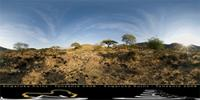 Panoramic image of Engaruka, Tanzania