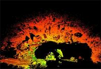 Individual laser scan of Mapungubwe Hill in Mapungubwe, South Africa
