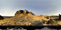 Panoramic image of Mapungubwe Hill in Mapungubwe, South Africa