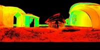 Individual laser scan of Peace Memorial Museum in Zanzibar, Tanzania
